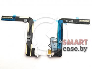 Шлейф для iPad Air + разъем зарядки (белый)