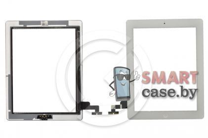 Тачскрин для iPad2 + кнопка HOME (белый)