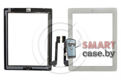 Тачскрин для iPad3 / iPad4 + кнопка HOME (белый)