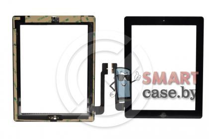 Тачскрин для iPad3 / iPad4 + кнопка HOME (черный)