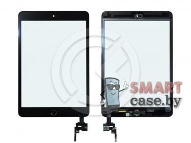 Тачскрин для iPad mini 3 (с разъемом) + кнопка HOME (черный) ориг