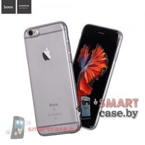 Силиконовый чехол для iPhone 6/6S HOCO (серый-прозрачный)