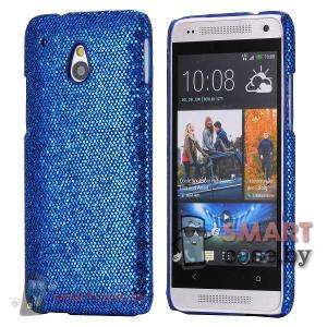 Чехол для HTC mini с блестками (темно-синий)