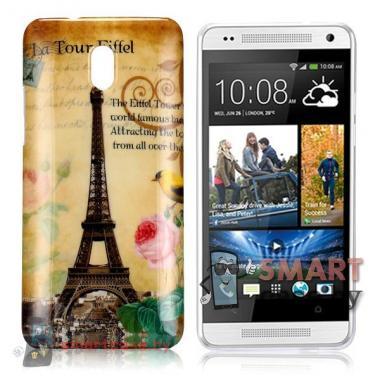 Стильный чехол для HTC mini Эйфелева башня
