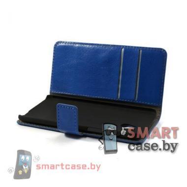 Чехол-кошелек для HTC mini синий