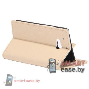 Чехол-кошелек с магнитной застежкой для HTC One Классик (бежевый)