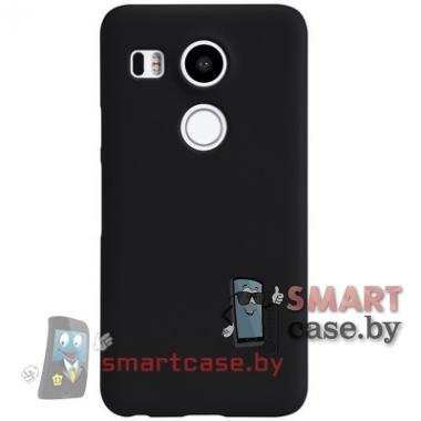 Чехол пластиковый для LG Nexus 5X Nillkin Frosted + пленка (черный)