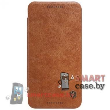 Чехол книжка для LG Nexus 5X Nillkin Qin (коричневый)