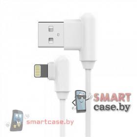 Кабель угловой USB - Apple Lighting для зарядки и синхронизации (белый)