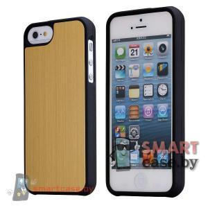 Металлическая накладка чехол для iPhone 5, iPhone 5s (Золото)