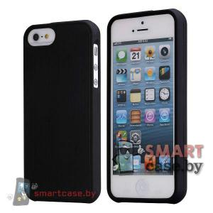 Металлическая накладка чехол для iPhone 5, iPhone 5s (Черный)
