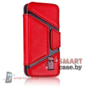 Кожаный чехол для iPhone 5, iPhone 5s Joyroom (Красный)