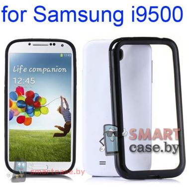 Ударопрочный чехол бампер для Samsung Galaxy S4 (черный)