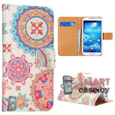 Кожаный чехол флип для Samsung Galaxy S4 i9500 i9505 i9508 Трайбл