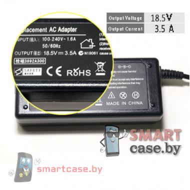 Блок питания (зарядное) для ноутбука HP 18,5V, 3,5A (штекер 4,8x1,7)