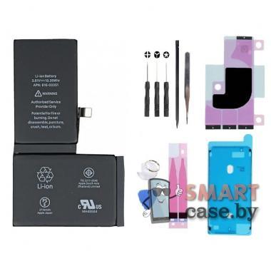 Аккумулятор для iPhone X 616-00351 с набором для установки и комплектом стикеров