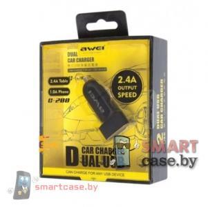 Зарядное устройство автомобильное Awei C200 2.4А 2USB (черный)