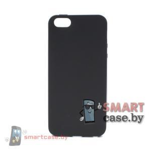 Силиконовый чехол для iPhone 5/5S (черный)