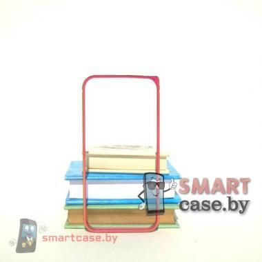 Бампер для iPhone 5 алюминиевый (малиновый с золотым рисунком)