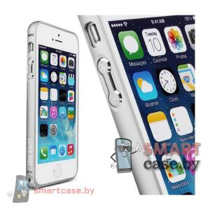 Бампер для iPhone 5 алюминиевый Love Mei  (серебро)
