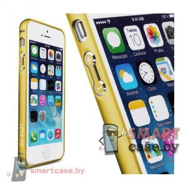 Бампер для iPhone 5 алюминиевый Love Mei  (золото)