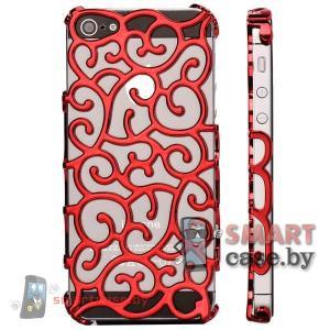 Чехол сеточка для iPhone 5 5S (красный)