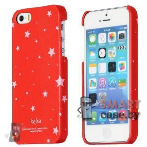 Чехол для iPhone 5, iPhone 5s звезды Kajsa (Красный)
