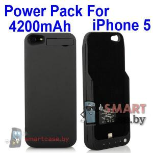 Внешний аккумулятор 4200 мАч с подставкой для iPhone 5/5s
