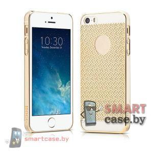 Люксовый чехол для iPhone 5, iPhone 5s HOCO (Золотой узор)