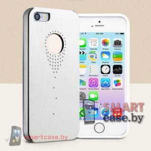 Алюминиевый чехол со стразами для iPhone 5/5S TakeFans (серебро)