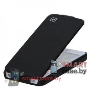 Элитный чехол для iPhone 5, iPhone 5s кожаный (Черный)