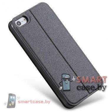 Кожаный чехол стенд с окном для iPhone 5/5s TakeFans (черный)