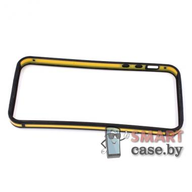 Бампер для iPhone 5 силиконовый (черно-жёлтый)