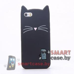 Чехол для iPhone 5 5s SE силикон фигурный (Котик)