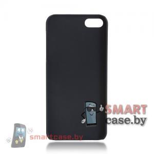 Пластиковая Накладка для iPhone 5/5S SoftTouch (Черная)