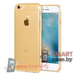Силиконовый чехол для iPhone 6/6S HOCO (прозрачный с золотым узором)