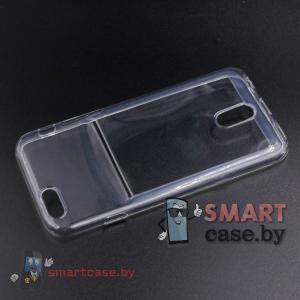 Чехол для iPhone 6 силиконовый с карманом для карты (прозрачный)