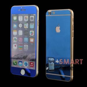 Закаленное стекло 2в1 для iPhone 6/6s на две стороны (синее)