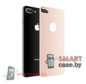 Защитное стекло для iPhone 7/8 Plus на заднюю крышку (Розовое золото)