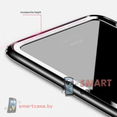 Бампер для iPhone X/XS силикон + пластик Baseus (черный)