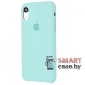 Силиконовый чехол Silicone Cover для iPhone XR (мятный)