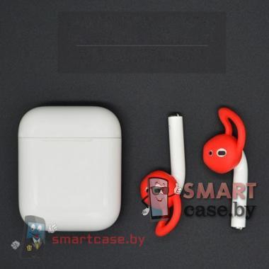 Анатомические насадки для Apple Airpods (Красные)