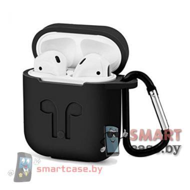 Силиконовый чехол Silicone case для Apple Airpods 4в1 (Чёрный)