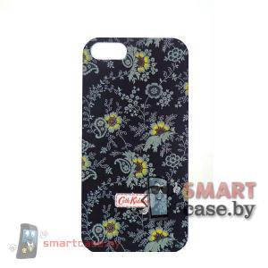 Чехол - накладка для iPhone 5 \ 5s Cath Kidston (черный с серыми цветами)