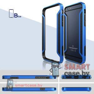 Бампер для iPhone 6 комбинированый Nillkin (синий-черный)