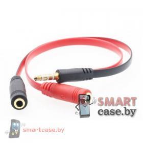 Разветвитель аудио кабель 3,5 mm Jack для наушников и микрофона