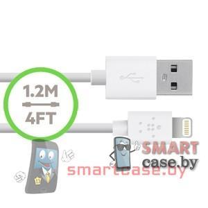 Дата-кабель USB для зарядки и синхронизации Apple Lightning Belkin (120см)