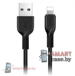 Дата-кабель USB для зарядки и синхронизации Apple Lightning HOCO X13 100см (черный)
