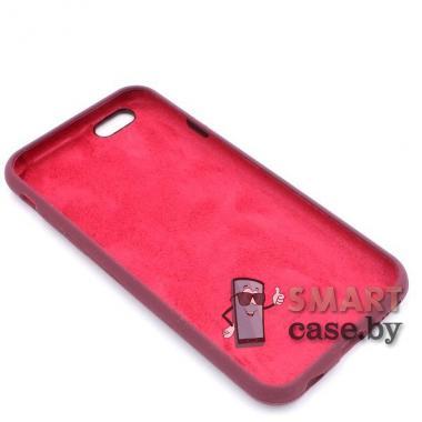 Силиконовый чехол Full Silicone Case для iPhone 6/6S (марсала)