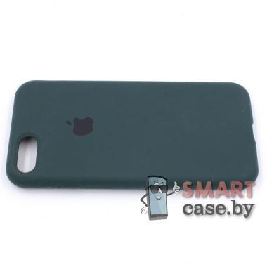 Силиконовый чехол для iPhone 7/8 Full Silicone Case (темный зеленый)